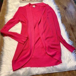 Raspberry Pink Cocoon Draping Open Cardigan Medium